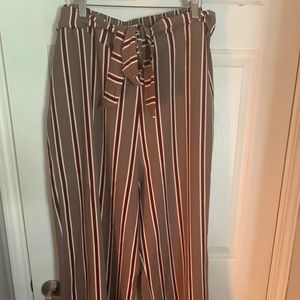 Altard state striped tie waist pant size a 14/16
